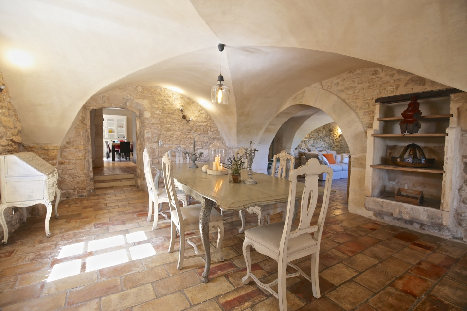 Vaulted dining room